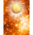 Orange party background vector image