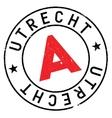 Utrecht stamp rubber grunge vector image