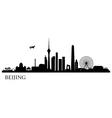 Beijing city silhouette vector image vector image