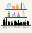 a set of cute icon collection of glassware jars vector image