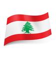 State flag of Lebanon vector image vector image