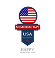Happy Memorial Day badge and labels vector image
