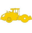 Silhouette of a road roller vector image