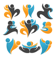 abstract people and plant vector image vector image