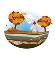 Autumn Windmill Island vector image