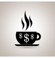 coffee is money design vector image