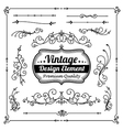 Collection of decorative vintage and classic vector image