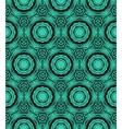Elegant circular pattern in emerald green vector image