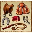 Equipment of the rider sx items vector image