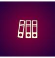 Folder icon Flat design style eps 10 vector image