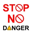 General prohibition forbidden sign vector image