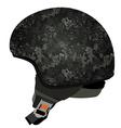 Grey military helmet vector image