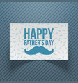 happy fathers day gift card template vector image