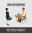 job interview concept vector image