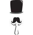 Moustache man vector image