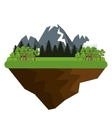 natural landscape with mountains vector image