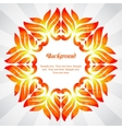 Summer frame of colorful abstract leaves vector image