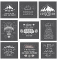 travel postcards set of tourism banners with hand vector image