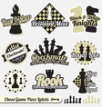 Vintage Chess Labels and Icons vector image