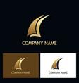 sail abstract gold business logo vector image