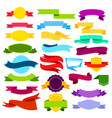 Set of colored ribbon banners vector image