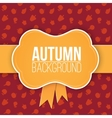 Autumn background with label vector image