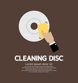 Cleaning Disc Graphic vector image vector image