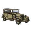 Vintage military car vector image