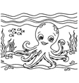 Octopus Coloring Pages vector image