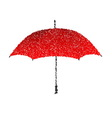 Dotted red umbrella Engraving vector image vector image