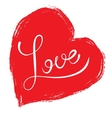 Word Love - calligraphy vector image