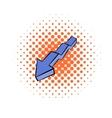 Broken down arrow icon comics style vector image