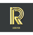 Graphic golden symbol letter r vector
