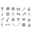 Art gray icons set vector image