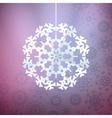 Christmas purple background with snowflake vector image