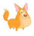 cute cartoon drawing of dog vector image