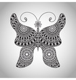 Doodle Butterfly tattoo sketch vector image