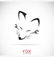 fox face design on a white background wild vector image