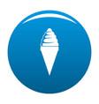 ice cream icon blue vector image