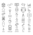 Set with thin line icons Office theme vector image