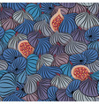 Fig Seamless pattern with half and whole fruit vector image
