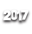 2017 New Year white background vector image