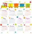 2014 train kids calendar vector image