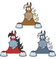 Horse cartoon vector image