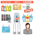 Shopping Icons Set 6 vector image
