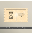 Simple stylish pixel icon hourglass design vector image