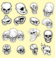 skulls cartoon vector image