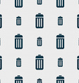 The trash icon sign Seamless pattern with vector image