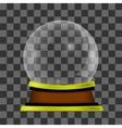 Empty Snow Globe vector image