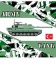 Military tank turkey army Armur vehicles vector image